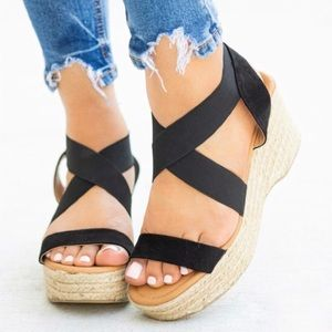 Shoes - New low wedge espadrilles with elastic bands